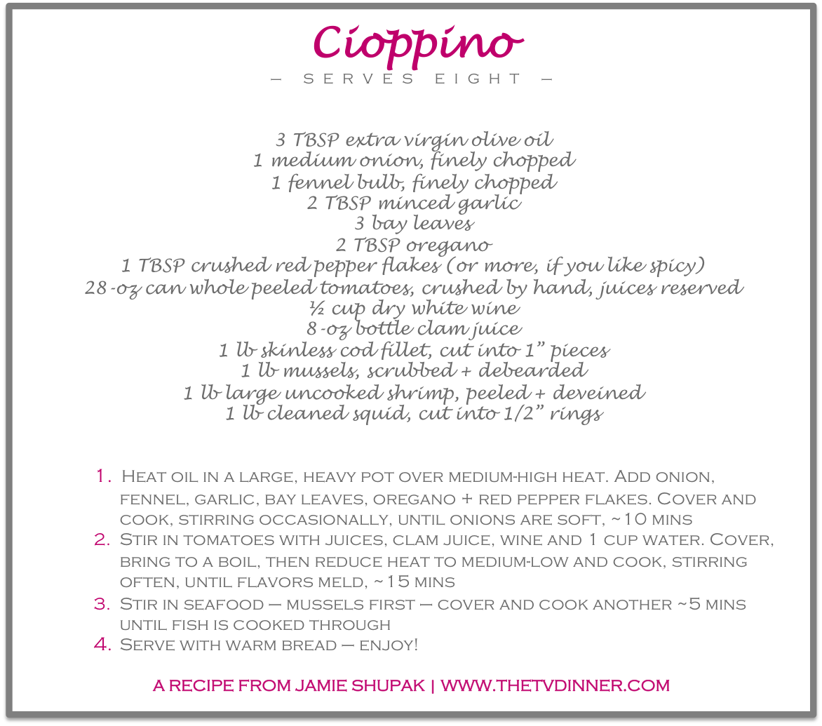 RECIPE cioppino